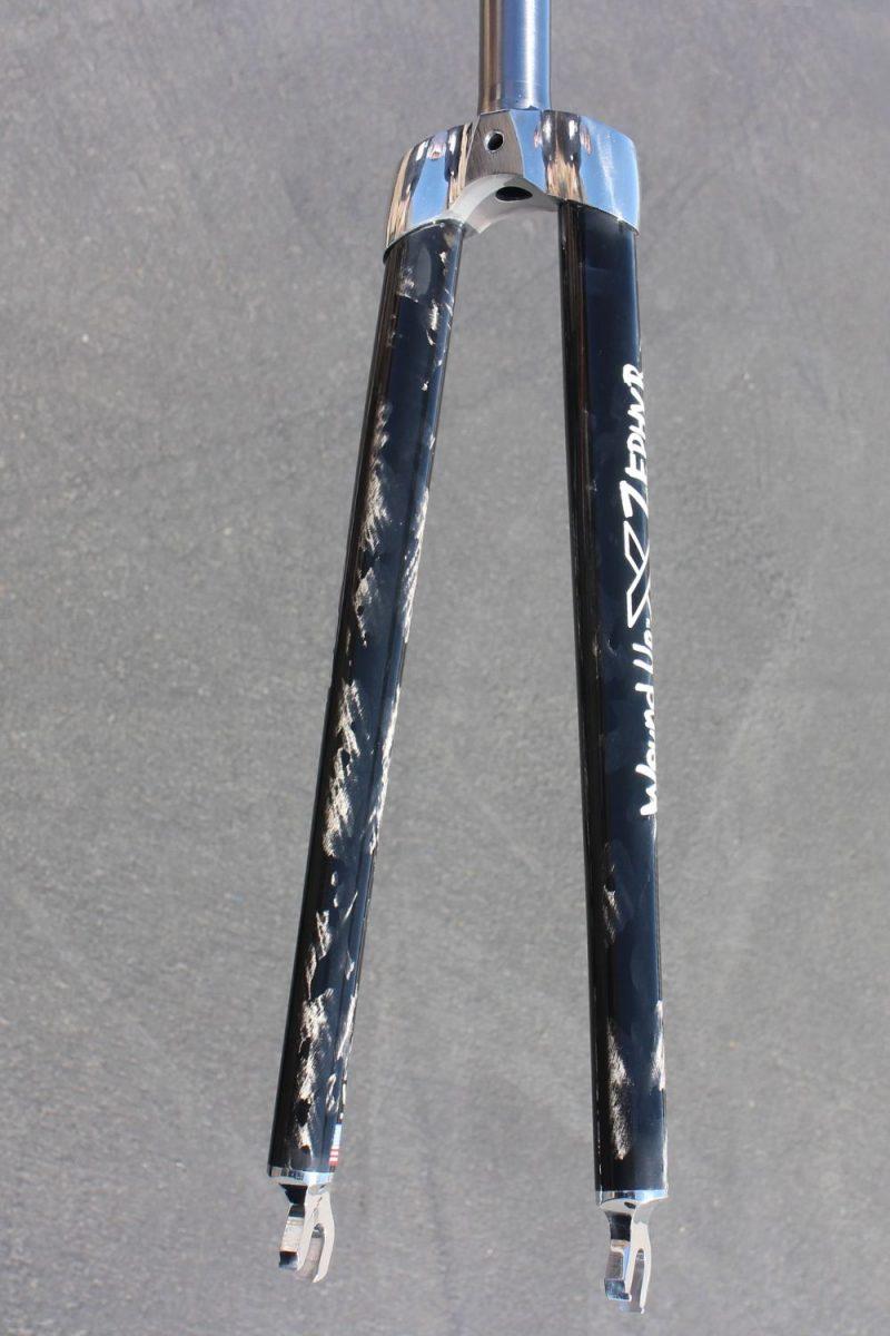 Zephyr 1 inch Steel Carbon Bike Fork